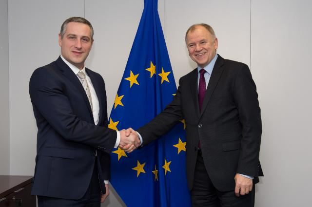 Vytenis Andriukaitis receives Nikola Todorov, Minister for Health of the former Yugoslav Republic of Macedonia