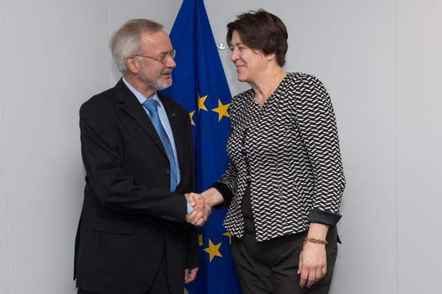Visit of Werner Hoyer, President of the EIB, to the EC