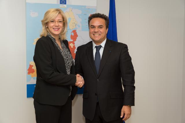 Corina Creţu receives Didier Robert, President of the Regional Council of Réunion and Senator of Reunion