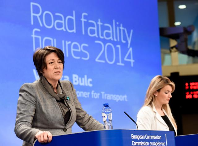 Press conference by Violeta Bulc, Member of the EC, on the road safety statistics for 2014