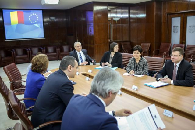 Visit of Valdis Dombrovskis, Vice-President of the EC, to Romania
