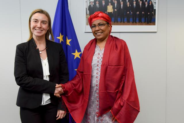 Federica Mogherini receives Kané Aïchatou Boulama, Nigerien Minister for Foreign Affairs, Cooperation, African Integration and Nigeriens abroad
