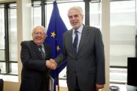 Visite de Giuseppe Zamberletti, président émérite de la Commission nationale italienne de grands risques, à la CE