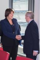 Visite de PDG de compagnies aériennes européennes à la CE