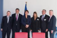 Maroš Šefčovič and Violeta Bulc received 5 CEO's of European Airlines (Alexandre de Juniac, Michael O´Leary, Carsten Spohr,  Christopher Gadsden,  Carolyn Julia McCall )