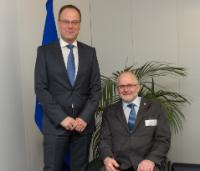 Visit of Sir Philip Craven, President of the IPC, to the EC