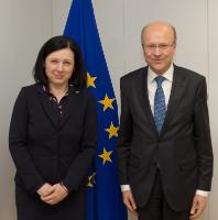 Visit of Koen Lenaerts, President of the Court of Justice of the EU, to the EC