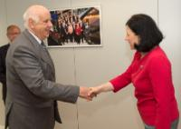 Visit of Etienne Davignon, Belgian Minister of State, and President of the European Business Network for Corporate Social Responsibility (CSR Europe), to the EC
