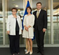 Participation of Valdis Dombrovskis, Vice-President of the EC, and Marianne Thyssen, Member of the EC, in the signing of MoU between Eurostat and the Directorate General Statistics of the ECB on quality assurance of MIP statistics