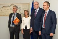 Visit of Ivo Belet and Tom Vandenkendelaere, Members of the EP, to the EC