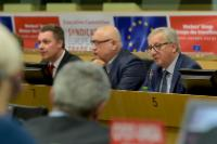 Participation of Jean-Claude Juncker, President of the EC, in a meeting of the Executive Committee of the ETUC