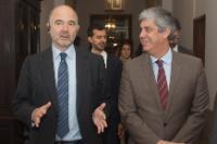Visite de Pierre Moscovici, membre de la CE, au Portugal