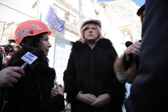 Visit by Corina Creţu, Member of the EC, to Italy