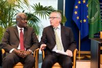 Meeting between Moussa Faki Mahamat, Chairperson of the African Union Commission, and Jean-Claude Juncker, President of the EC