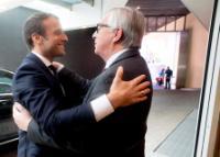 Visite d'Emmanuel Macron, président de la République française, à la CE