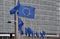 European flags of the Berlaymont fly at half-mast to pay tribute to  Helmut Kohl, Former Federal Chancellor of the Federal Republic of Germany and Citizen of Honour of Europe (1930 - 2017)