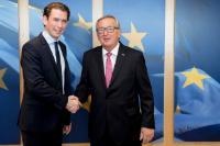 Visite de Sebastian Kurz, ministre fédéral autrichien de l'Intégration, des Affaires européennes et étrangères et président du Parti populaire autrichien ÖVP, à la CE