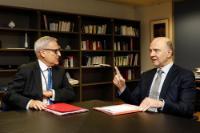 Visite de Leo Brincat, membre de la Cour des comptes européenne, à la CE