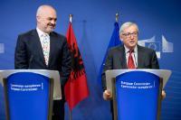 Visite d'Edi Rama, Premier ministre albanais, à la CE