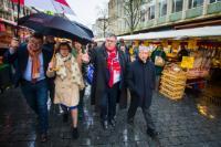 Visite de Karmenu Vella, membre de la CE, aux Pays-Bas