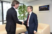 Visite de Michael Peters, directeur général d'Euronews, à la CE