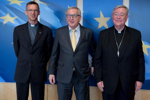 Visit of Jean-Claude Hollerich, Archbishop of Luxembourg and President of the Commission of the Bishops' Conferences of the European Community (Comece), to the EC