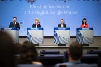 Press conference of Andrus Ansip, Vice-president of the EC, Elżbieta Bieńkowska, Carlos Moedas and Mariya Gabriel, Members of the EC, on the Digital Single Market package, specifically Artificial Intelligence and data