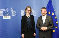 Visite de Iselin Nybø , ministre norvégienne de la Recherche et de l'Enseignement supérieur, à la CE