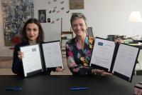 Participation de Margrethe Vestager, membre de la CE, à la signature d'un arrangement administratif de coopération entre l'UE et le Mexique