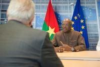 Visite de Roch Marc Christian Kaboré, président du Burkina Faso, à la CE
