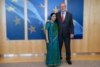 Visite de Sushma Swaraj, ministre indienne des Affaires étrangères, à la CE