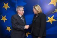 Visite de José Ignacio Sánchez Amor, secrétaire d'Etat espagnol chargé de la Politique territoriale, à la CE