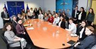 Visite des représentants de l'Union européenne des étudiants juifs, à la CE