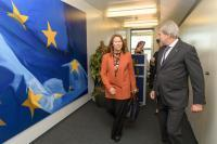 Visit of Grete Faremo, Executive Director of the United Nations Office for Project Services (UNOPS), to the EC