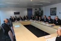 Visite d'une délégation de membres de la Chambre du commerce américaine auprès de l'UE, à la CE