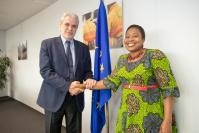 Visit of Minata Samate Cessouma, Member of the African Union Commission (AUC) in charge of Political Affairs, to the EC