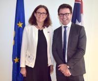 Visite de Cecilia Malmström, membre de la CE, en Australie