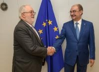 Visit of Javier Lambán, President of the Government of Aragón, to the EC