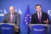 Press conference of Maroš Šefčovič, Vice-President of the EC, and Peter Altmaier, German Federal Minister for Economic Affairs and Energy, on the EU Battery Alliance