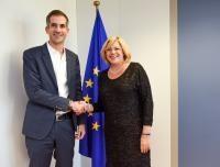 Visite de Kostas Bakoyannis, gouverneur de la région de la Grèce centrale, à la CE