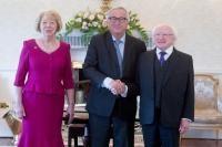 Visite de Jean-Claude Juncker, président de la CE, en Irlande