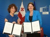 Signature de l'accord de haut niveau avec la Géorgie