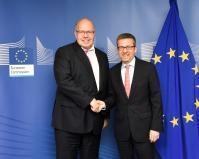 Visite de Peter Altmaier, ministre fédéral allemand des Affaires économiques et de l'Énergie, à la CE