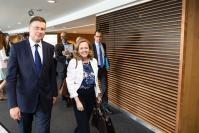 Visite de Nadia María Calviño Santamaría, ministre espagnole de l'Economie et des Entreprises, à la CE
