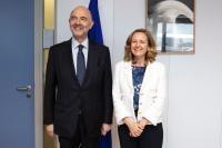 Visit of Nadia María Calviño Santamaría, Spanish Minister for Economy and Enterprises, to the EC