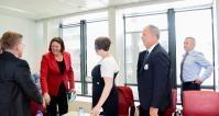 Visite de PDG des compagnies aériennes membres de l'association professionnelle Airlines for Europe, à la CE
