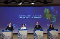 Press conference of Valdis Dombrovskis, Vice-President of the EC, Marianne Thyssen, Tibor Navracsics, and Mariya Gabriel, Members of the EC, on funds to invest in people in the framework of the 2021-2027 budget
