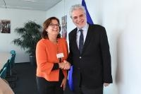 Visit of Christine Leurquin, Vice-President in charge of Institutional Relations and Communications at SES, to the EC