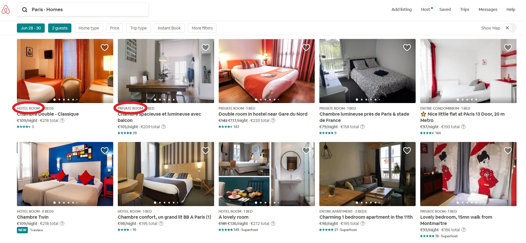 Aibnb price offers bis
