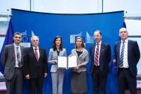 Participation of Federica Mogherini, Vice-President of the EC, and Mariya Gabriel, Member of the EC, at the signing ceremony of the MoU between CERT-EU, ENISA, EDA and EC3